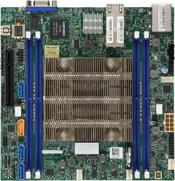 Supermicro Motherboard Xeon Boards X11SDV-16C-TLN2F
