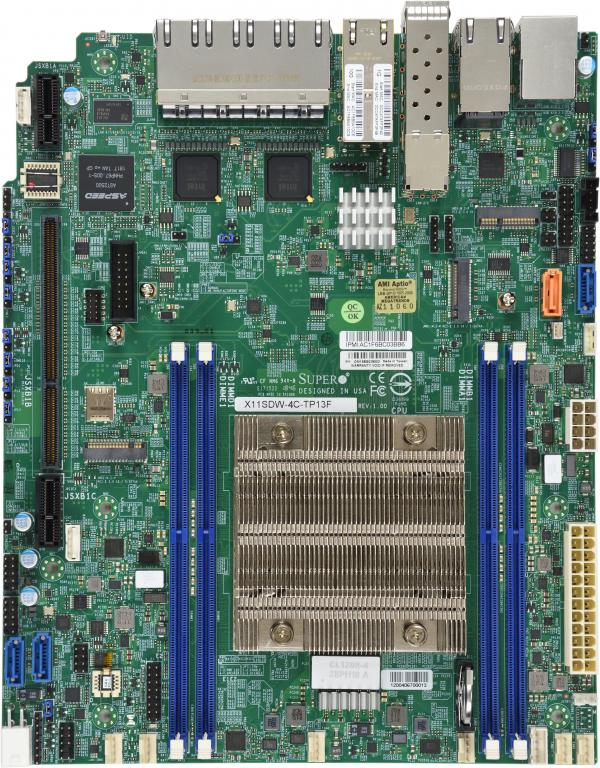 Supermicro Motherboard Xeon Boards X11SDW-4C-TP13F