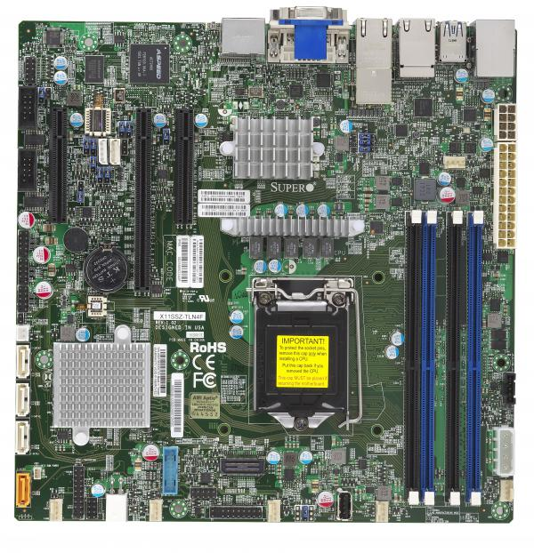 Supermicro Motherboard Xeon Boards X11SSZ-TLN4F