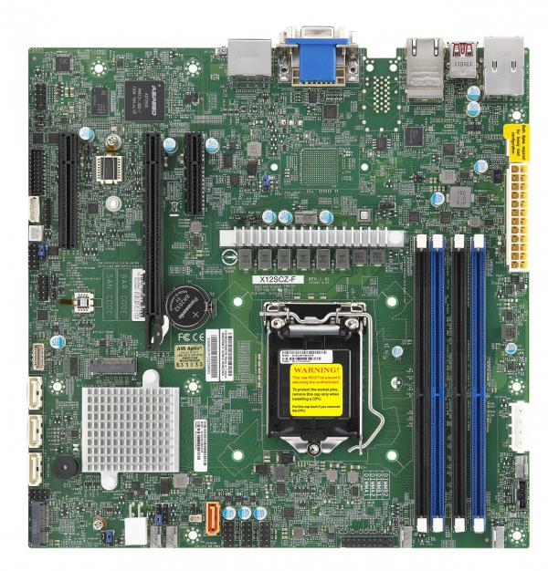 Supermicro Motherboard Xeon Boards X12SCZ-F