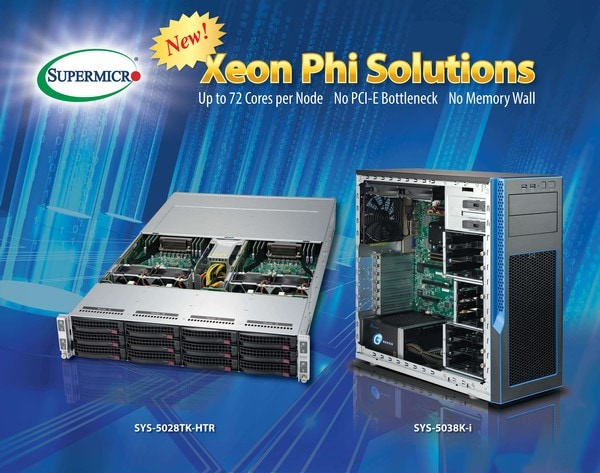 Supermicro shipping latest Intel Xeon Phi processor server solutions