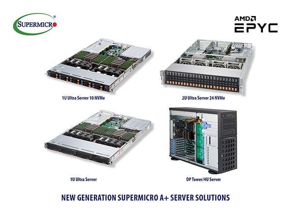 A+ Server Solutions Optimized for New High-Performance AMD