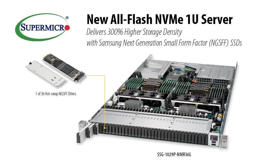 Supermicro | News | Supermicro Unveils New All-Flash 1U Server that