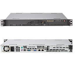 "SUPERMICRO CSE-512L-260B Black 1U Rackmount 14/"" Mini Server Case"