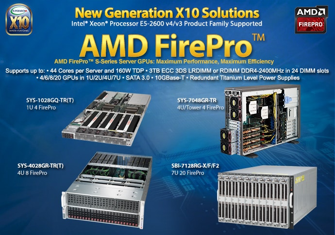 FirePro™ Optimized Solutions | Supermicro GPU/Coprocessor Solutions
