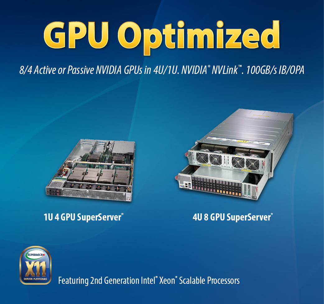 GPU-Optimized Supercomputing Server Solutions | Super Micro