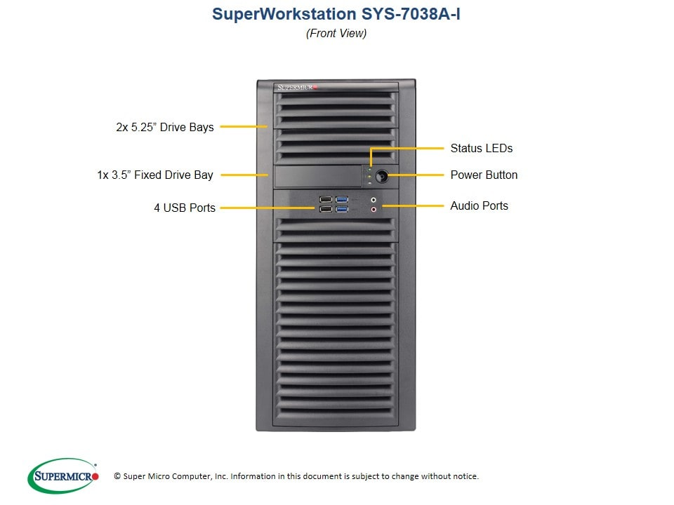 Supermicro   Products   SuperWorkstation   Mid-Tower   7038A-i with