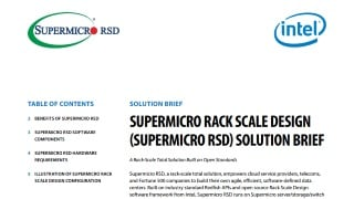 Supermicro Rack Scale Design (SRSD) Solutions | Super Micro
