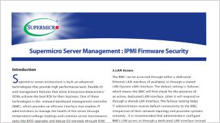 Supermicro Intelligent Management (IPMI)   Supermicro Server