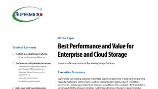 Optimized Storage Server Solutions   Super Micro Computer, Inc