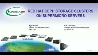 Supermicro Red Hat Ceph | Super Micro Computer, Inc