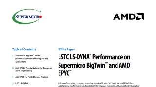 LSTC LS-DYNA® Performance on Supermicro BigTwin™ and AMD EPYC™