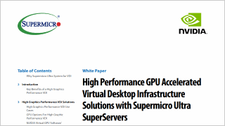 High Performance GPU Accelerated Virtual Desktop