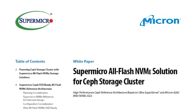Supermicro All-Flash NVMe Solution for Ceph Storage Cluster