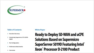 Server Systems based on Intel® Xeon®-D processors | Super Micro