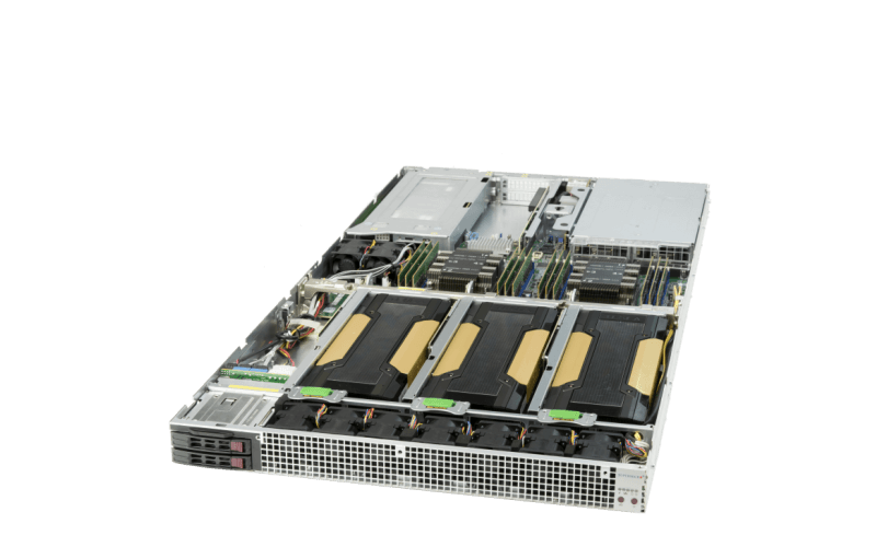 1U NVIDIA V100 Tensor Core GPU Server with NEBS Level 3