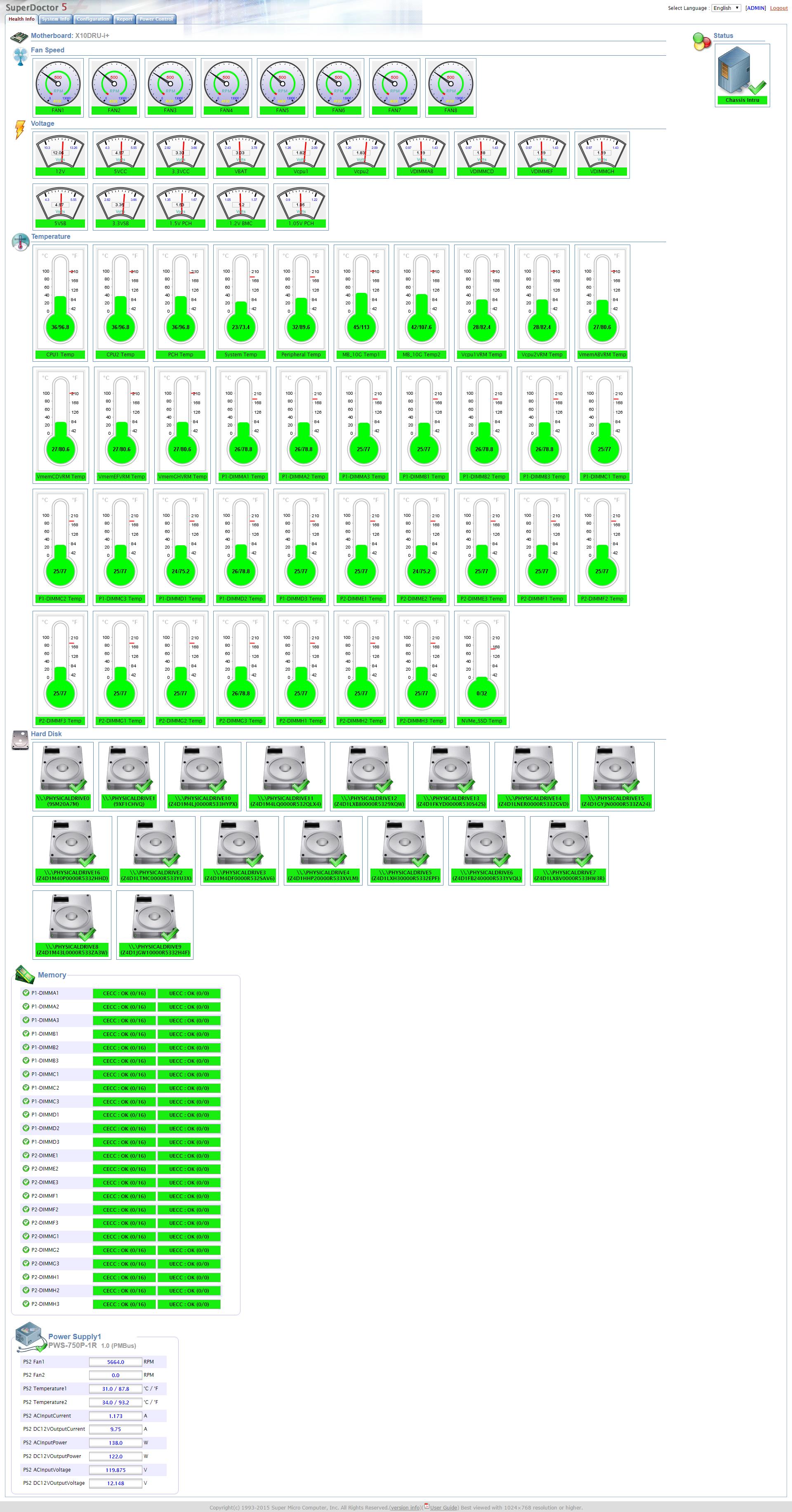 Supermicro SuperDoctor® 5 | Supermicro Server Management