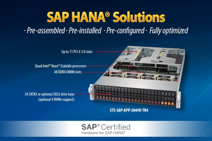 Supermicro® SAP Certified Solutions and Technology