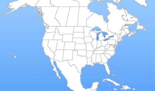 North America Where To Buy Super Micro Computer Inc - Us canada mexico map